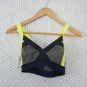 NWT Community Neon Color Block Sports bra XS